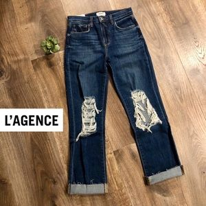 ⬇️ L'AGENCE Jordan High Rise Distressed Jeans